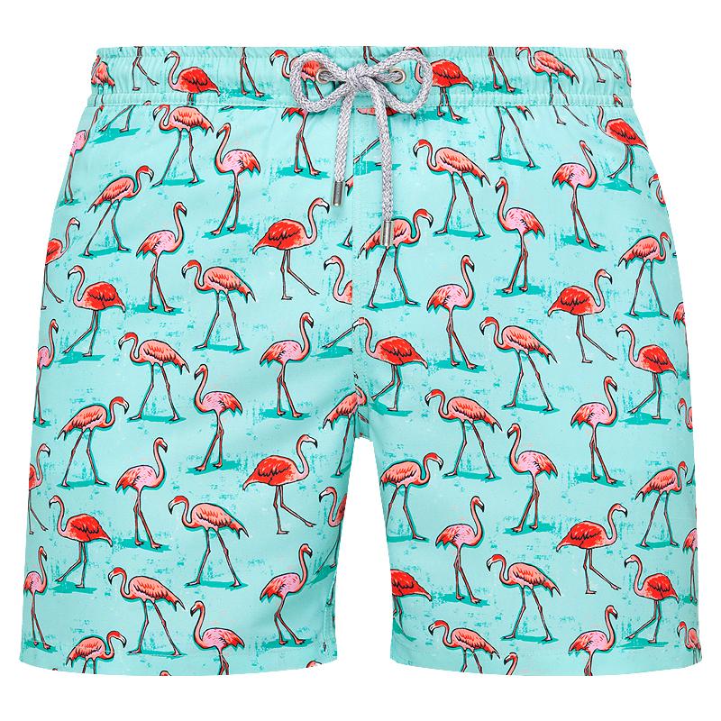 mens swimwear trunks flamingo