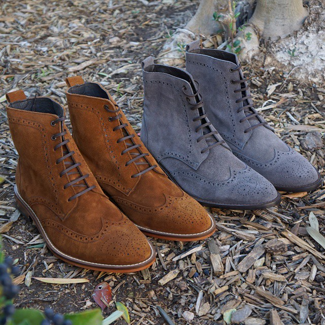 suede oxford mens boots