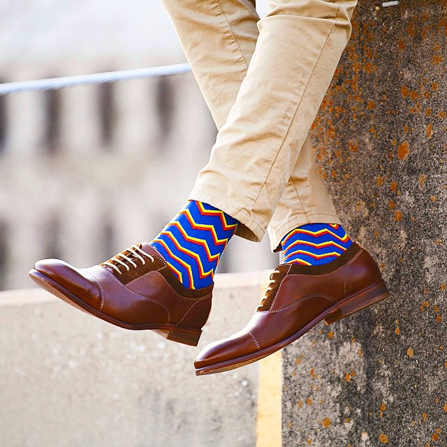 zigzag mens socks