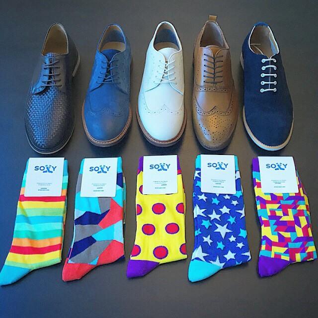 mens socks and dress shoes
