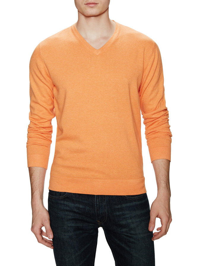 barrow and grove orange mens sweater
