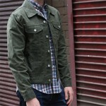 Olive Waxed Trucker Jacket