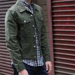 Olive Waxed Trucker Jacket