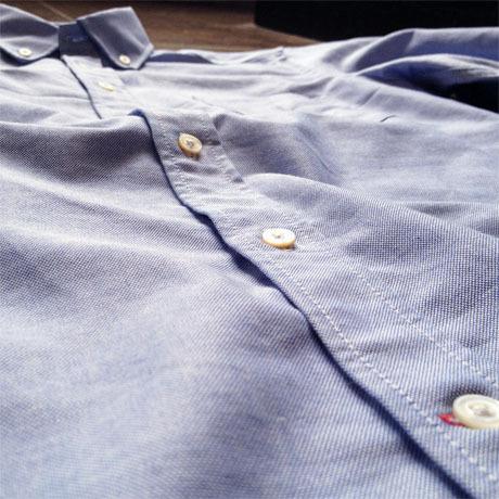 indigo summer weight chambray mens shirt 2