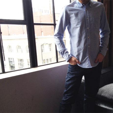 indigo summer weight chambray mens shirt 4