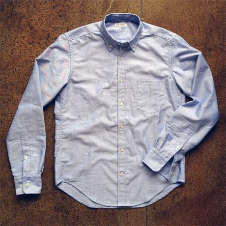 indigo summer weight chambray mens shirt