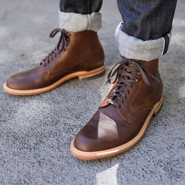 made in usa brown mens boots