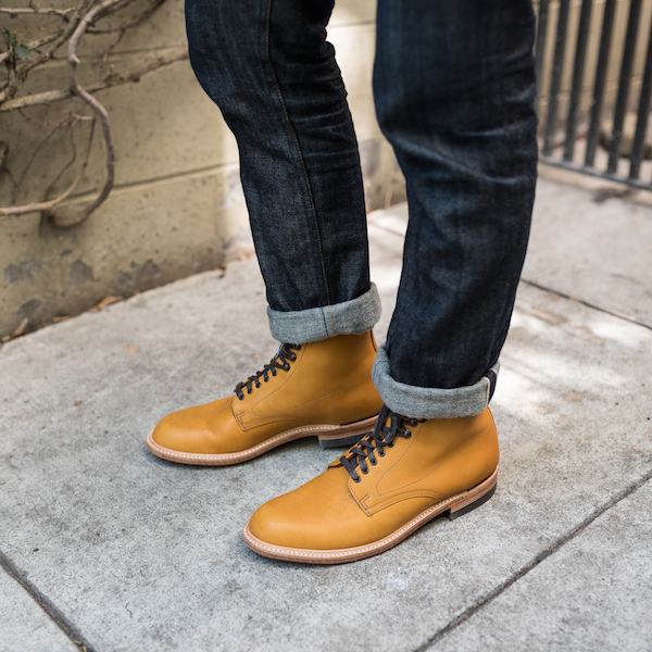 tan boots premium denim jeans