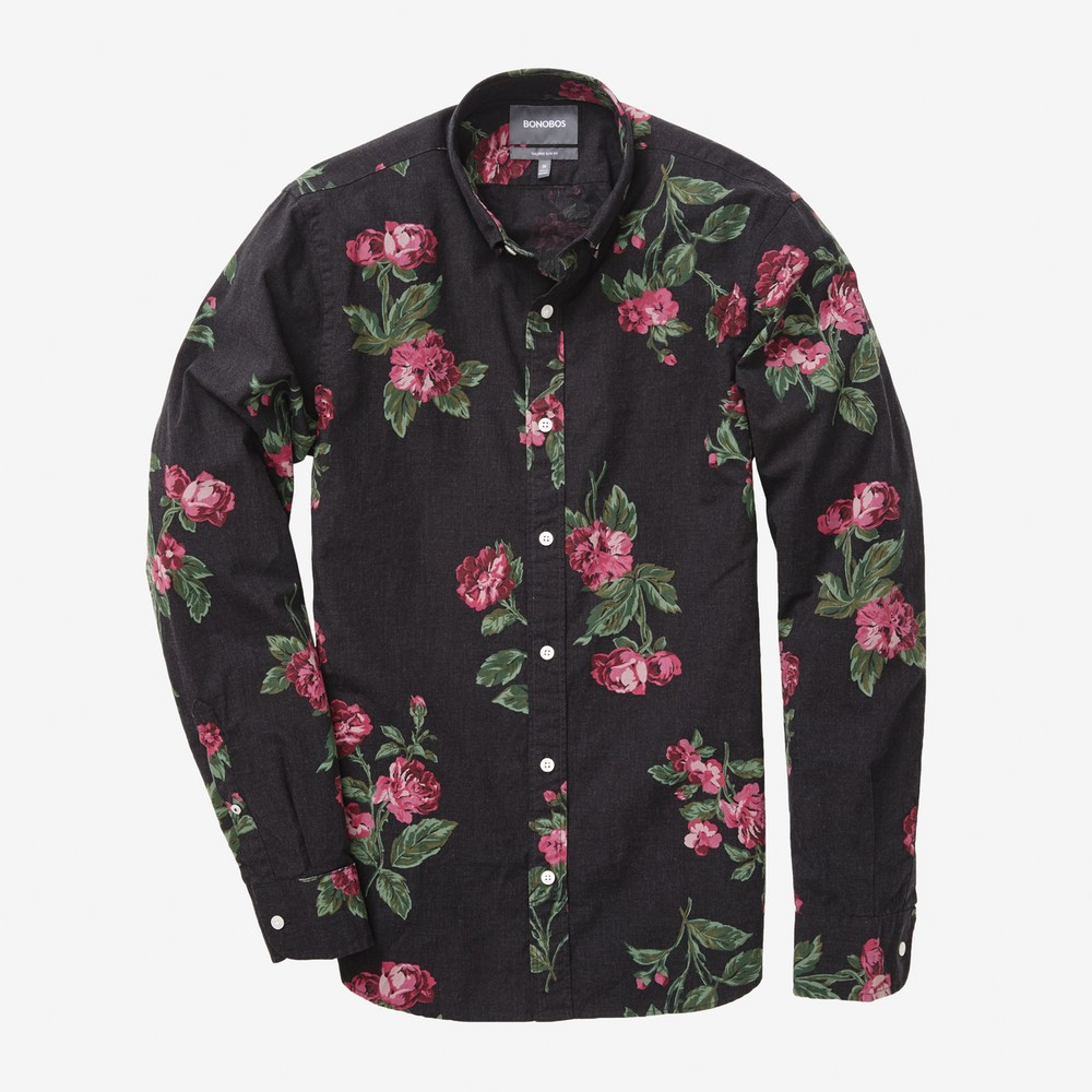 bonobos mens floral shirt
