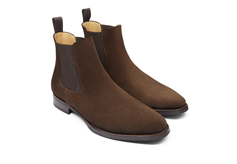 ellis chelsea boot jack erwin brown suede