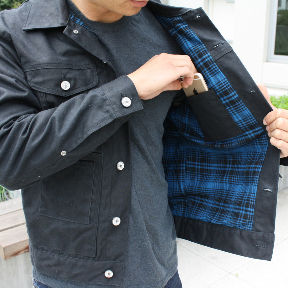Flannel lined trucker jacket from Gustin
