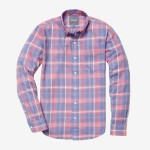 Bonobos Pink Plaid Flannel