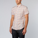 Short Sleeve Floral Button Up