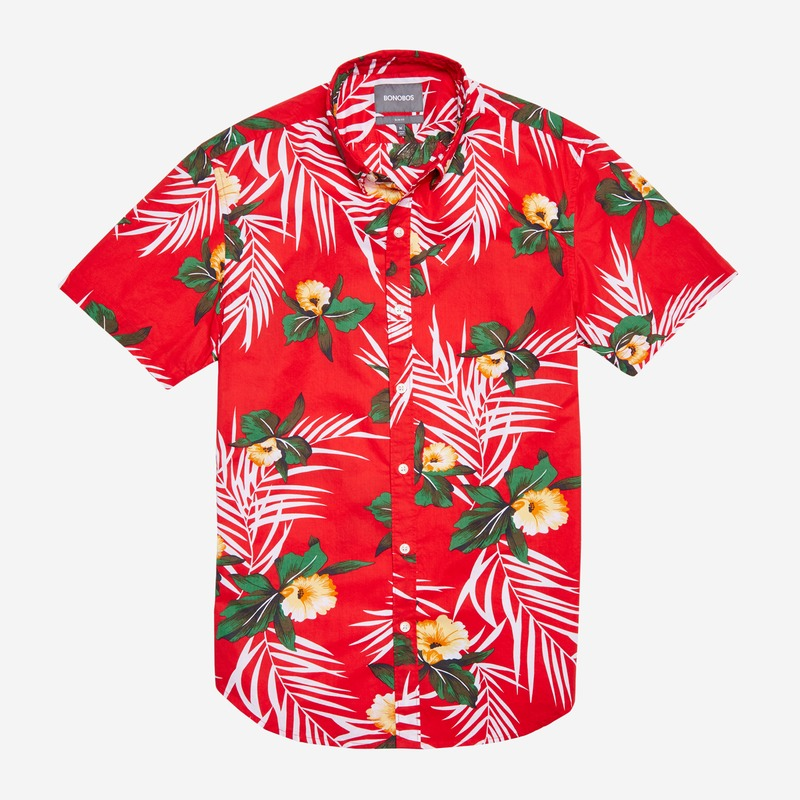 bonobos riviera cabana shirt hawaian palms