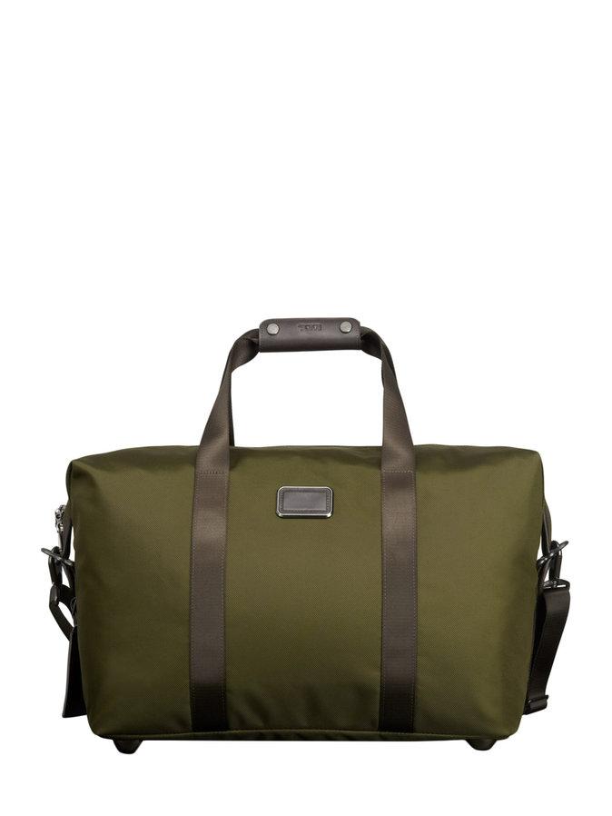 tumi small soft travel satchel olive