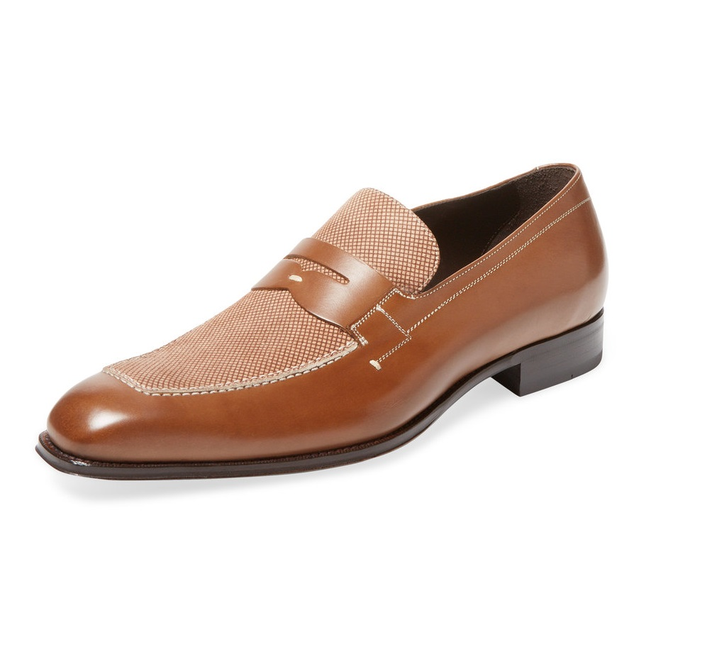 Mezlan check loafer
