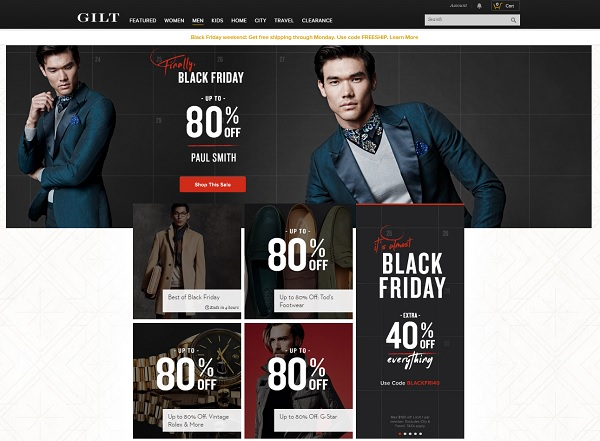 Gilt Man Black Friday
