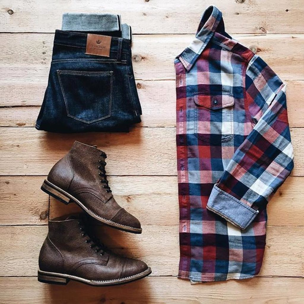 Men 39 s shirts mensfash for Flannel shirt and jeans