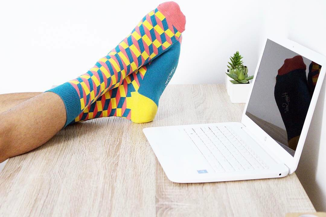 Guys jack up your sock game with Happy Socks