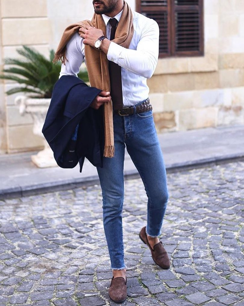 Love this guys winter fashion style!