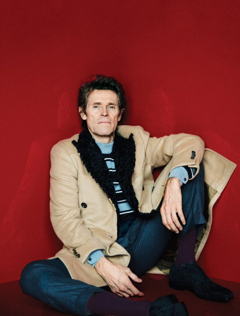 willem dafoe luxary mens winter coats