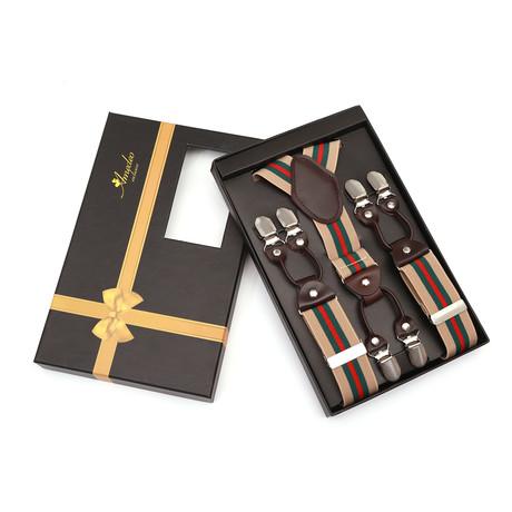 6 clips suspenders for men