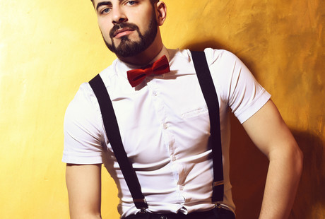 mens six clip suspenders