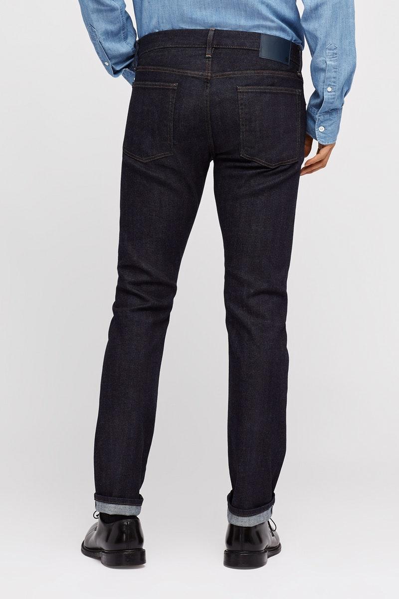 Bonobos selvage stretch men's jeans, rear