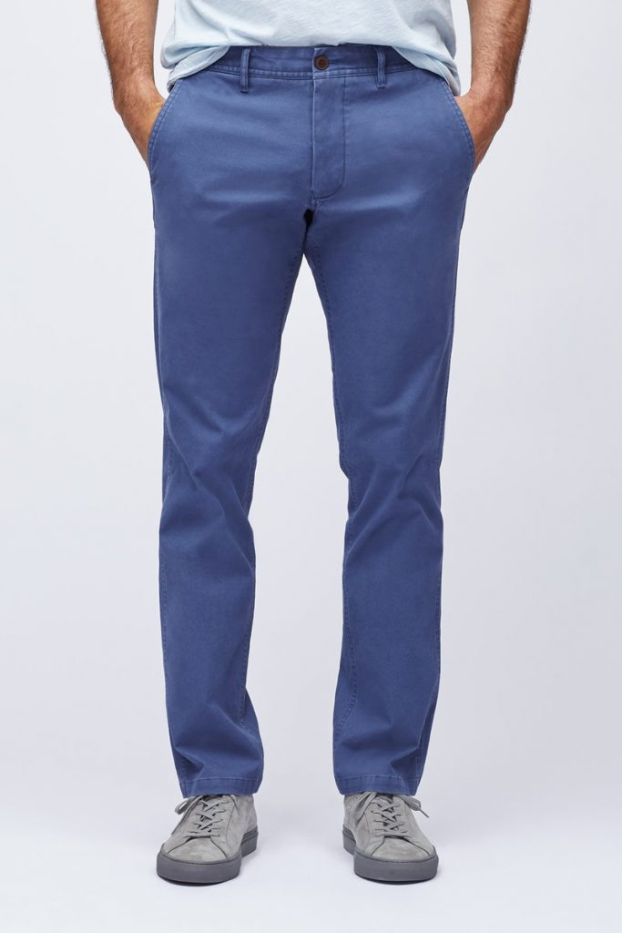 Stretch organic cotton men's chinos from Bonobos
