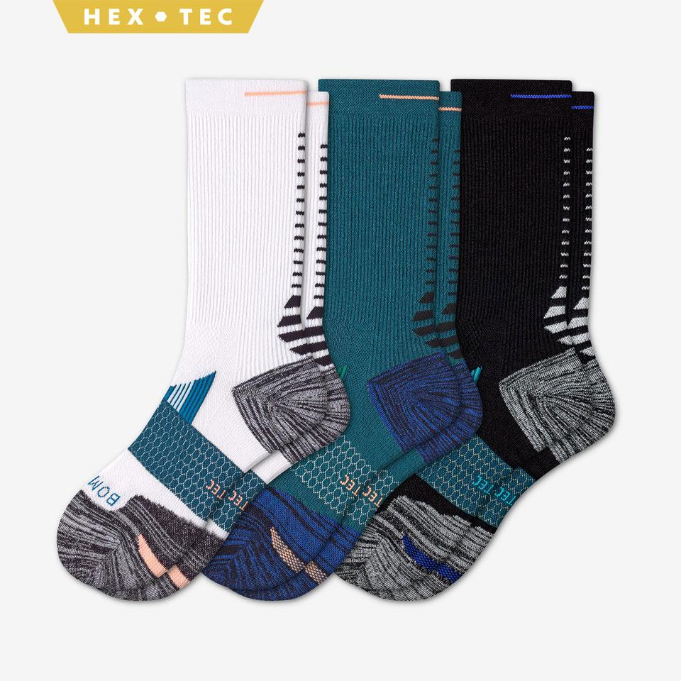 bombas mens calf socks performance