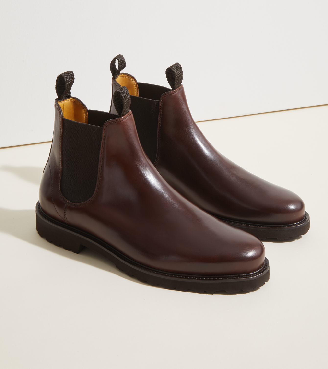 jack erwin lug sole mens brown boots
