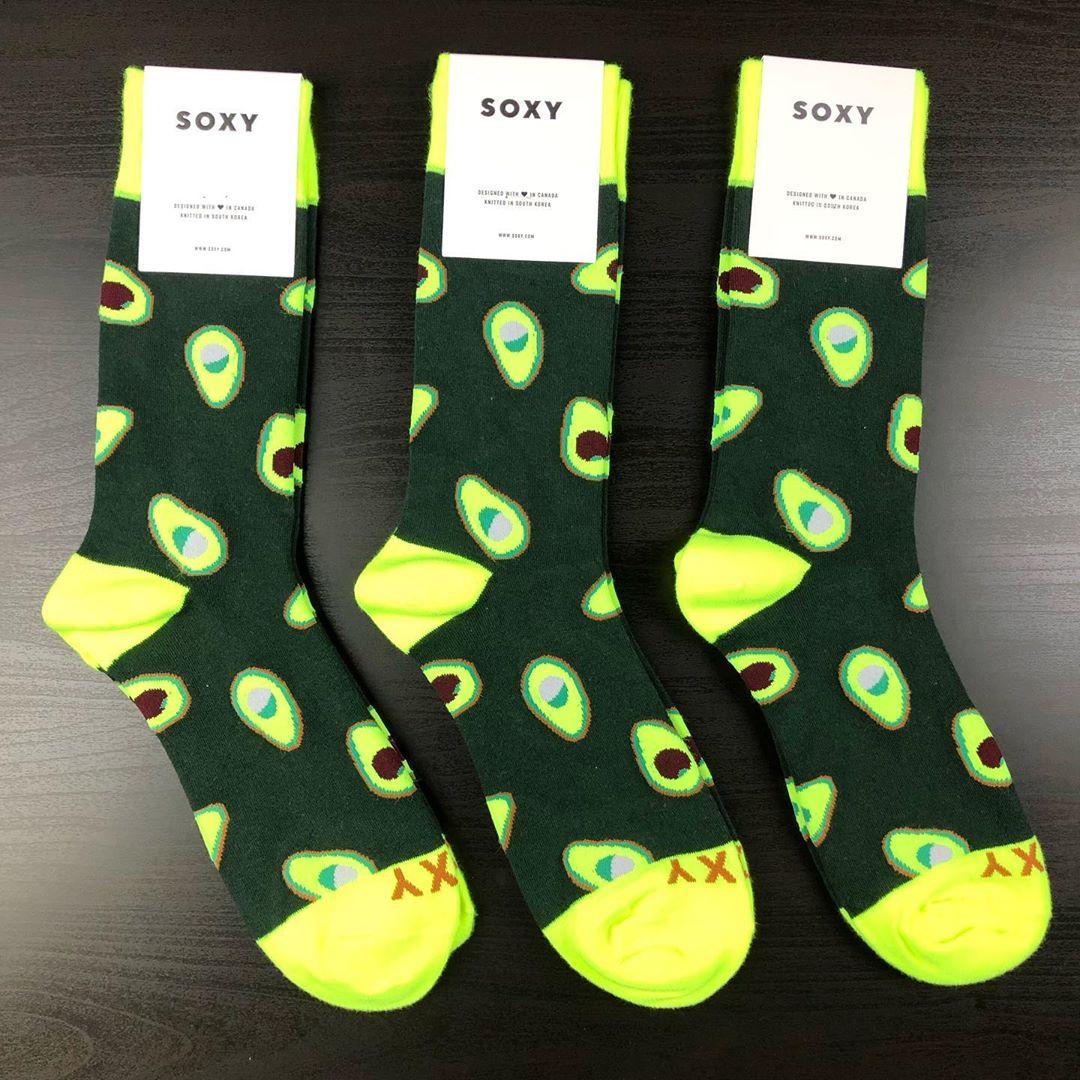 Soxy men's avocado socks